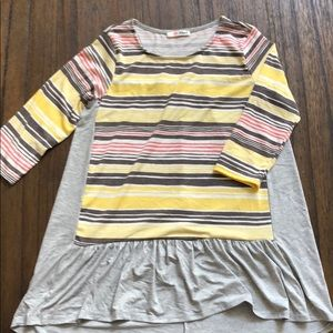 NWOT boutique striped peplum tunic